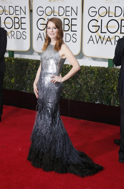 Julianne Moore en Givenchy (Photo DANNY MOLOSHOK, Reuters)