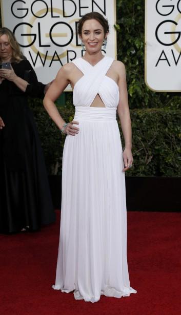 Emily Blunt porte une robe signée Michael Kors (Photo MARIO ANZUONI, Reuters)