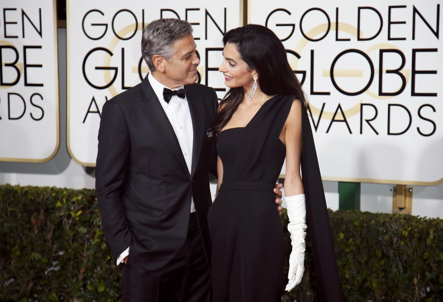 George et Amal Clooney (Photo DANNY MOLOSHOK, Reuters)