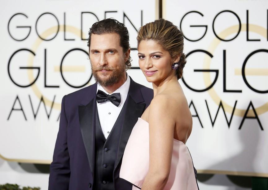 Matthew McConaughey et sa femme, Camila Alves (Photo DANNY MOLOSHOK, Reuters)