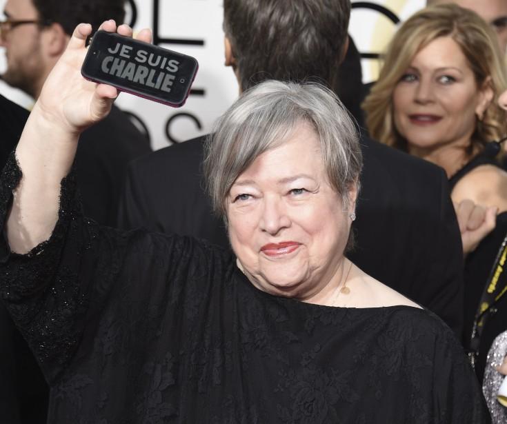 L'actrice Kathy Bates, sur le tapis rouge des Golden Globes (Agence France-Presse)