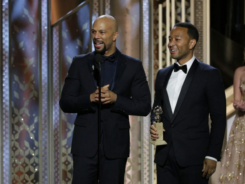 <strong>Meilleure chanson originale: </strong><em>Glory</em> - <em>Selma</em>, John Legend and Common (Photo Paul Drinkwater, AP)