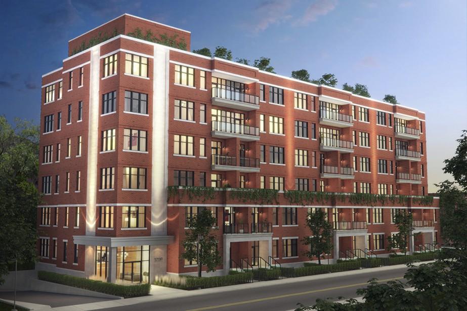 Le 175 Metcalfe Westmount Condominiums aura six étages et comptera 53 condos haut de gamme. (Illustration fournie par TLA Architectes)