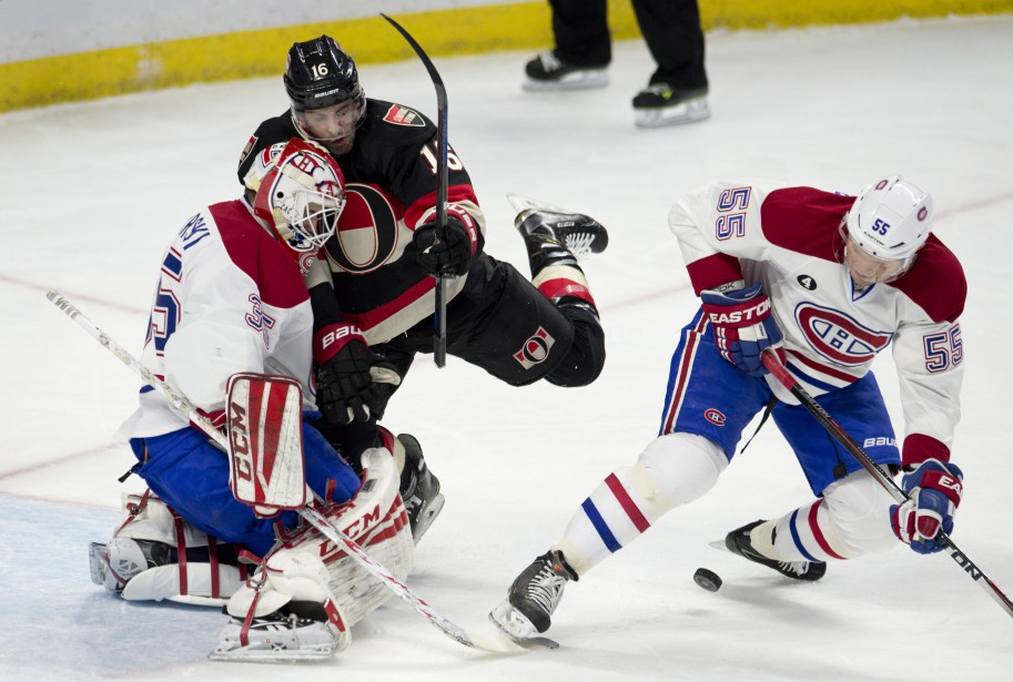 Le défense du Canadien était sur le qui-vive, jeudi soir. (Photo La Presse Canadienne)