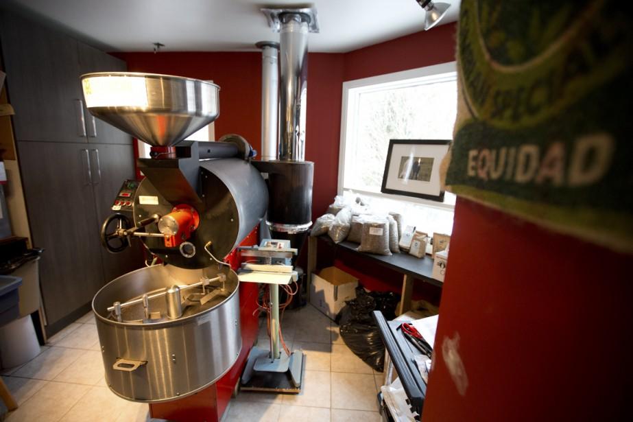 Depuis près de deux ans, Café Charlevoix est devenu la seule brûlerie à des kilomètres à la ronde. (Photo François Roy, La Presse)