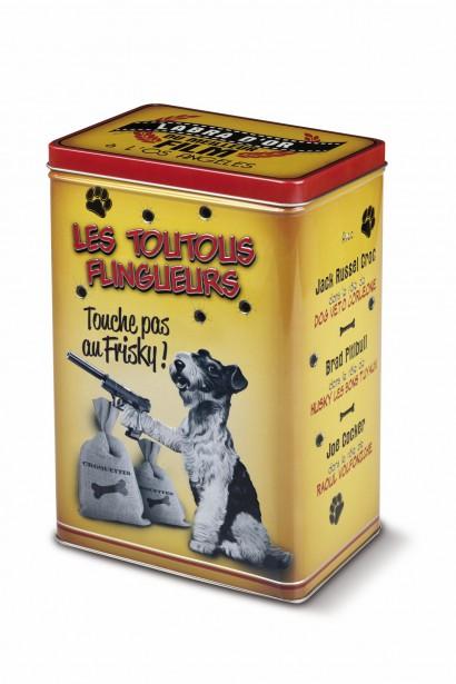 Boîte à croquettes Les Toutous flingueurs, 21,99$ (Fournie par Maestria International)