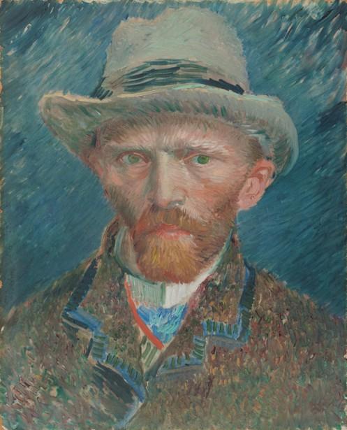 Après être arrivé à Paris en 1886, le Hollandais Vincent Van Gogh a changé son style, travaillant désormais par petites touches impressionnistes, comme sur cet autoportrait de 1887 (42cm sur 34cm) réalisé sur un carton simplement pour s'entraîner. (PHOTO FOURNIE PAR LE MUSÉE)