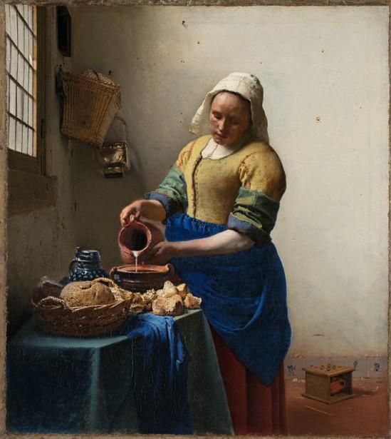 <em>La laitière</em> (<em>The Milkmaid</em>) a été peint en 1660 par Johannes Vermeer, un des plus grands peintres du XVII<sup>e</sup> siècle. Tous les détails de la peinture convergent à donner à la lumière une présence perceptible. (PHOTO FOURNIE PAR LE MUSÉE)
