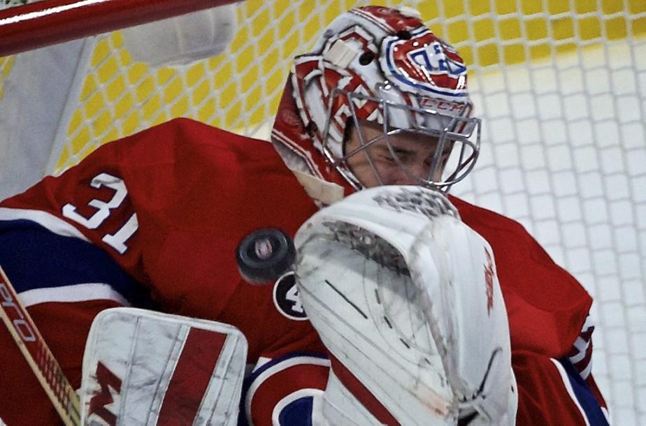 Carey Price était de retour sur la glace après avoir manqué les deux derniers matchs des siens. (André Pichette, La Presse)