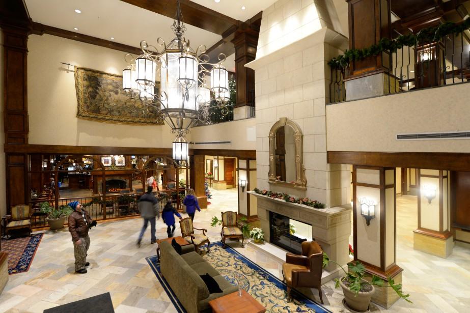 Le lobby du Sun Peaks Grand. (Photo Bernard  Brault, La Presse)