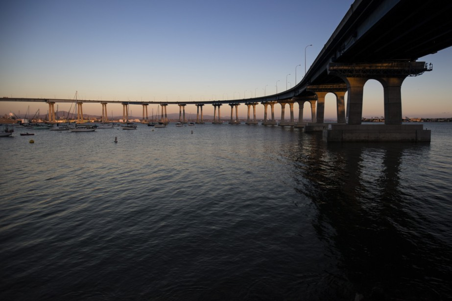 Le pont Coronado, qui mène à l'île du même nom. (Photo Martin Leblanc, La Presse)