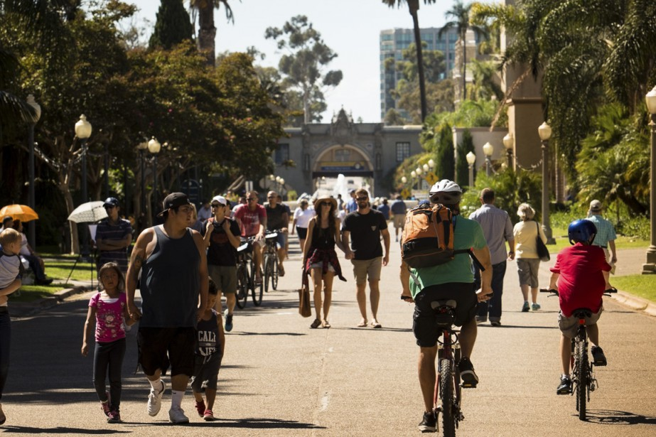 Le parc Balboa et sa végétation luxuriante. (Photo Martin Leblanc, La Presse)