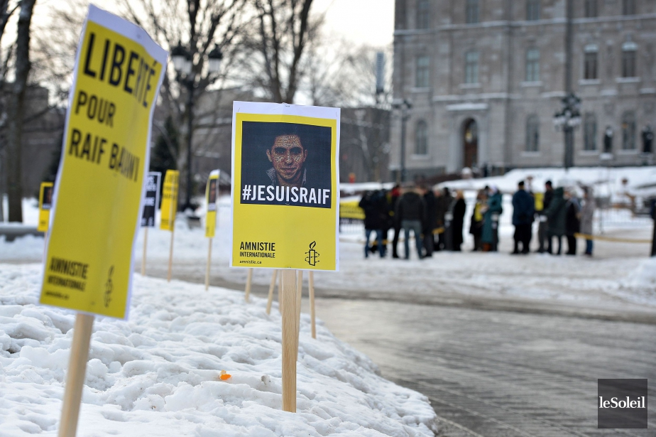 Raïf Badawi, qui a aussi a été condamné... (PHOTO PATRICE LAROCHE, LE SOLEIL)