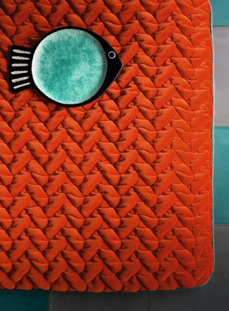 Ce velours de coton matelassé est le modèle phare de la collection de Dominique Kieffer by Rubelli. (Photo fournie par Rubelli)