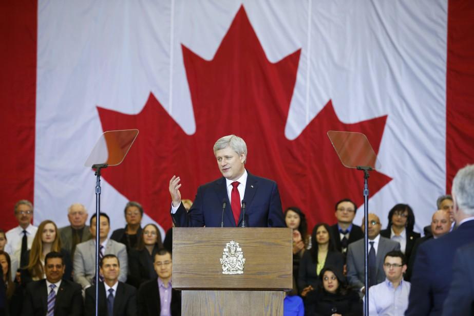 Stephen Harper présente son projet de loi sur... (PHOTO MARK BLINCH, REUTERS)
