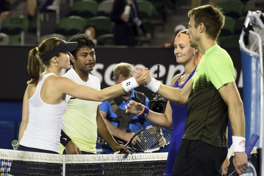 Martina Hingis et Leander Paes ont eu le... (PHOTO MANAN VATSYAYANA, AFP)