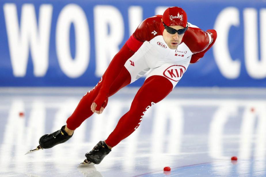 Denny Morrison lors de l'épreuve du 1500 mètres,... (Photo Terje Pedersen, AP)