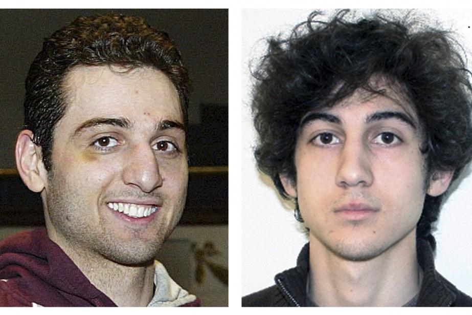 Tamerlan (à gauche) et Djokhar Tsarnaev.... (Photo Archives AP)