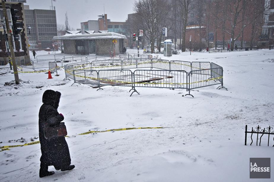 Une portion du boulevard Saint-Joseph restera fermée au... (PHOTO PATRICK SANFAÇON, ARCHIVES LA PRESSE)