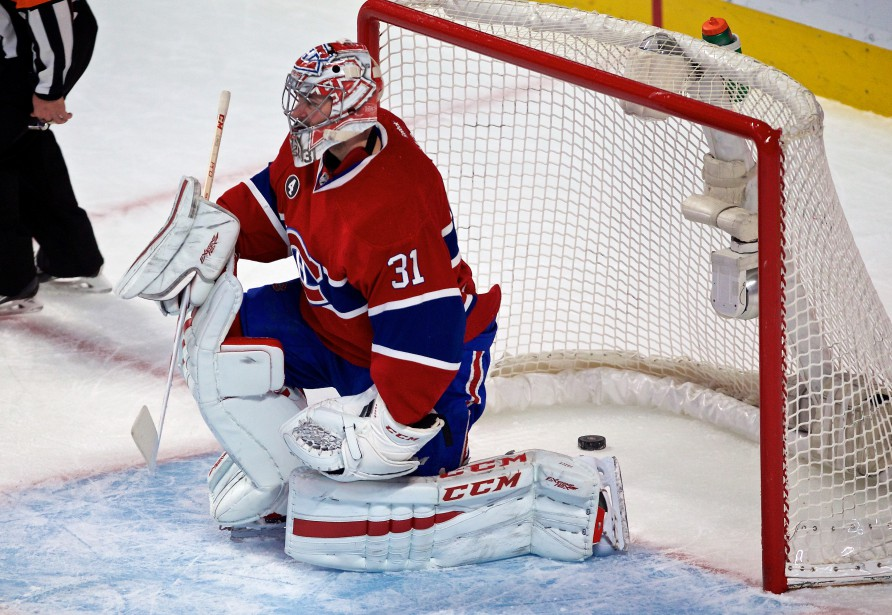 Carey Price accorde un but en première période. (Photo André Pichette, La Presse)