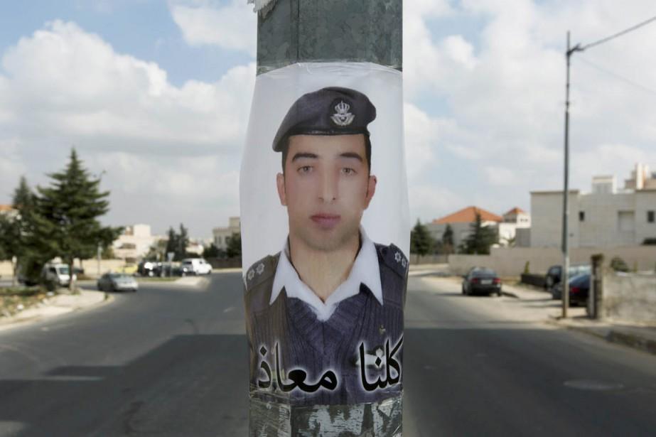Le pilote jordanien avait été enlevé en décembre... (PHOTO NASSER NASSER, ARCHIVES AP)