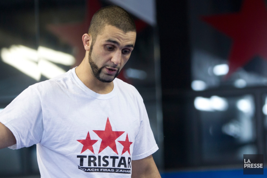 L'entraîneur de Georges St-Pierre, Firas Zahabi.... (Photo Olivier Jean, La Presse)