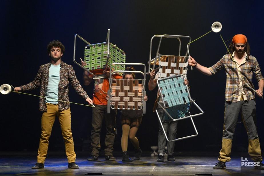 Le spectacle Attrape-moi du collectif de Québec Flip... (PHOTO BERNARD BRAULT, ARCHIVES LA PRESSE)