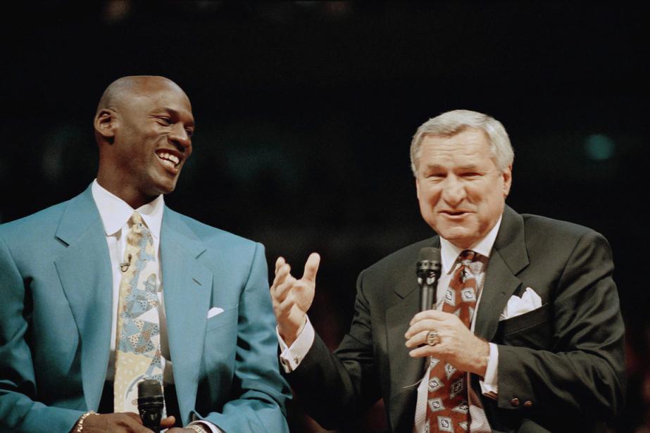 Sur cette photo datant de 1994, Michael Jordan... (PHOTO AP)
