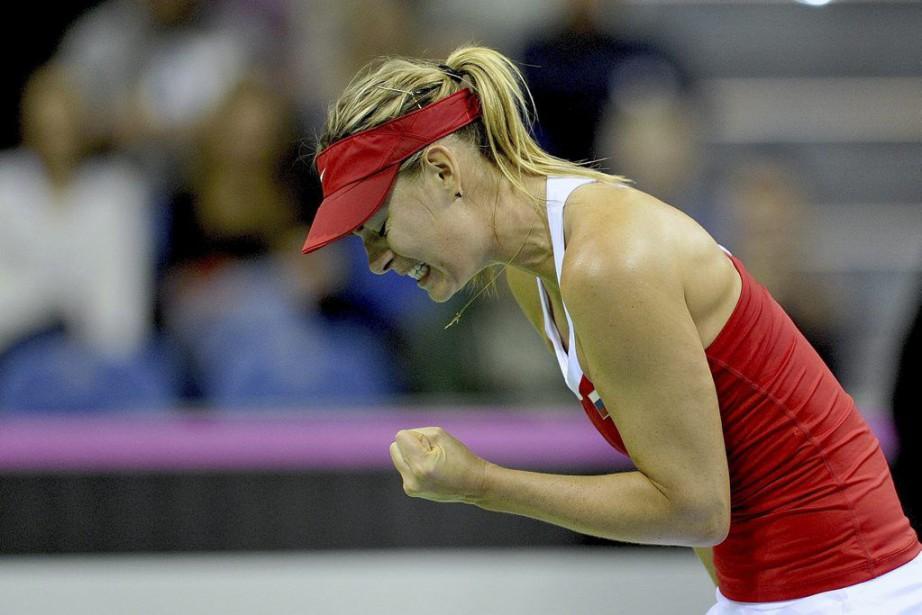 MariaSharapova a réussi deux fois plus de points... (PHOTO PIOTR HAWALEJ, AFP)