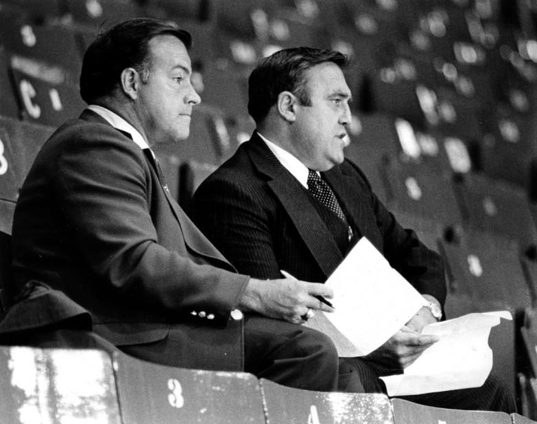 Scotty Bowman et Claude Ruel (Photo archives La Presse)