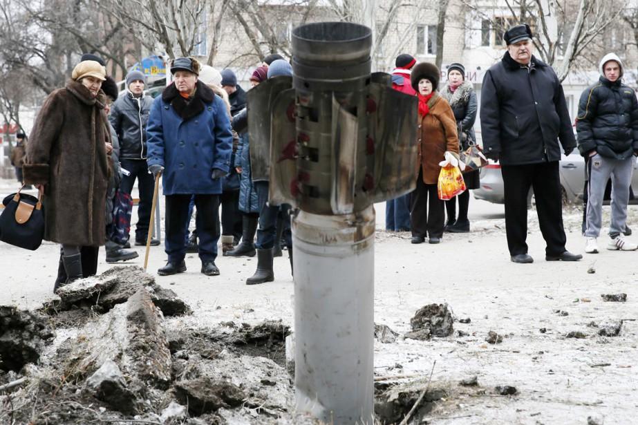 Cet état-major situé à Kramatorsk, à 70km au... (PHOTO GLEB GARANICH, REUTERS)
