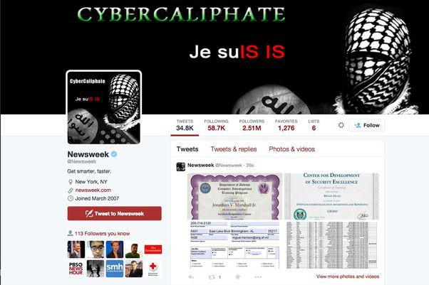 Les pirates se sont revendiqués d'un «Cybercalifat» et... (CAPTURE D'ÉCRAN TWITTER)