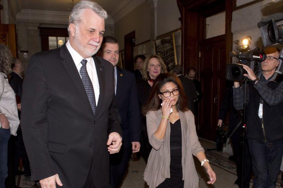 EnsafHaidar, la femme du blogueur saoudien Raïf Badawi,a... (PHOTO JACQUES BOISSINOT, LA PRESSE CANADIENNE)