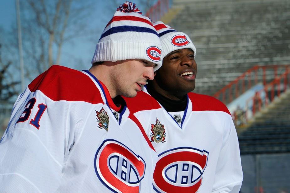 Carey Price et P.K. Subban lors de la... (Photo Todd Korol, archives Reuters)