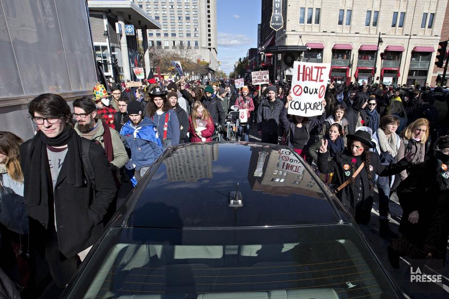 Manifestations, perturbations, grèves et autres moyens de pression... (PHOTO PATRICK SANFAÇON, ARCHIVES LA PRESSE)