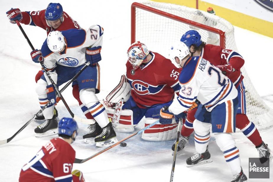 PHOTO BERNARD BRAULT, LA PRESSE-Montreal, Quebec:Martch regulier LNH-NHLOilers...