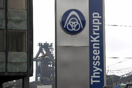 Le conglomérat industriel allemand ThyssenKrupp a continué de... (Photo: Reuters)