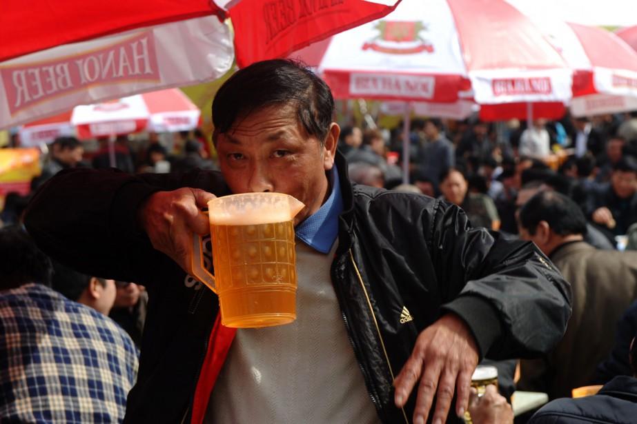 Le Vietnam est sur la troisième marche du... (PHOTO HOANG DINH NAM, AFP)