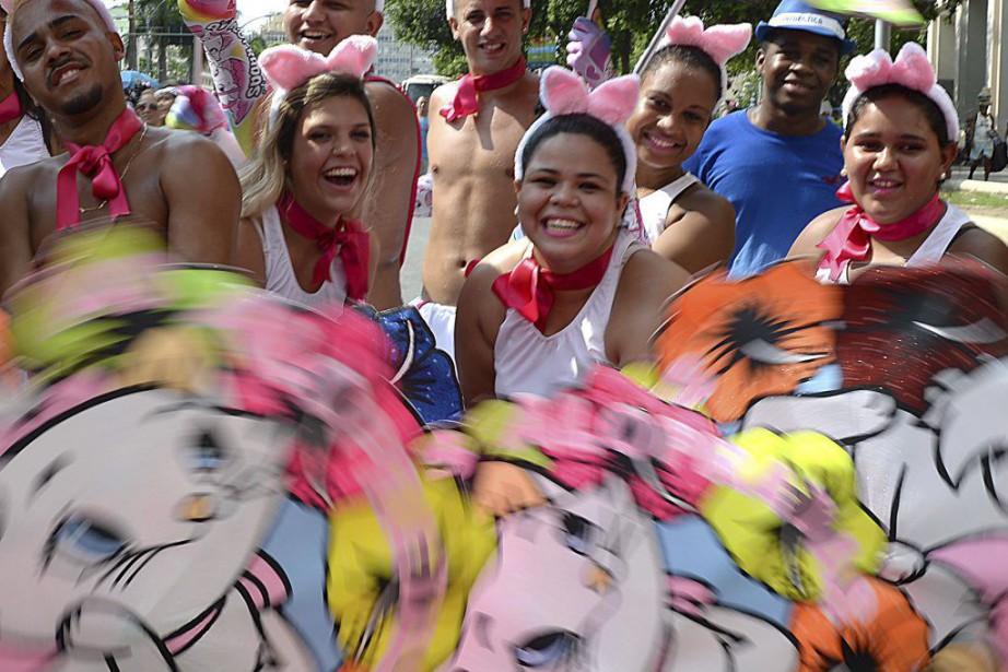 Les organisateurs de Bola Preta espéraient rassembler samedi... (PHOTO VANDERLEI ALMEIDA, AFP)