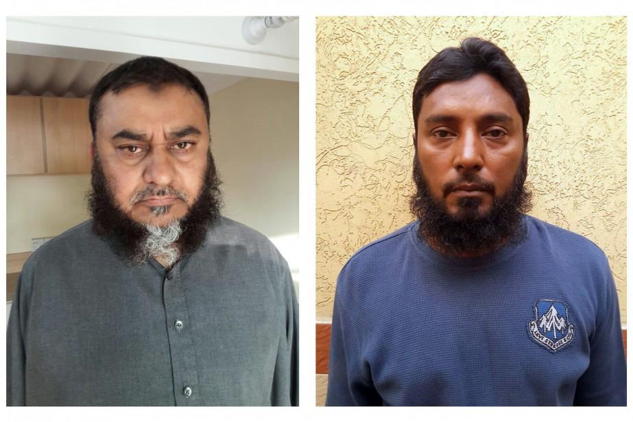 Noor Aziz Uddin et Farhan Arshad, de Karachi,... (PHOTO AFP)