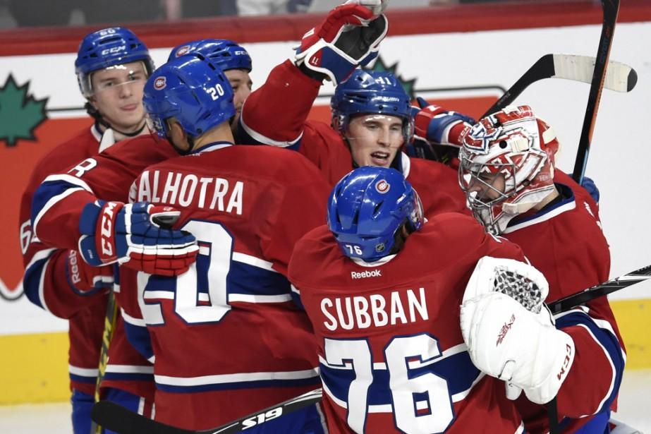 Le Canadien l'emporte 2-1 devant les Maple Leafs. (Photo Bernard Brault, La Presse)