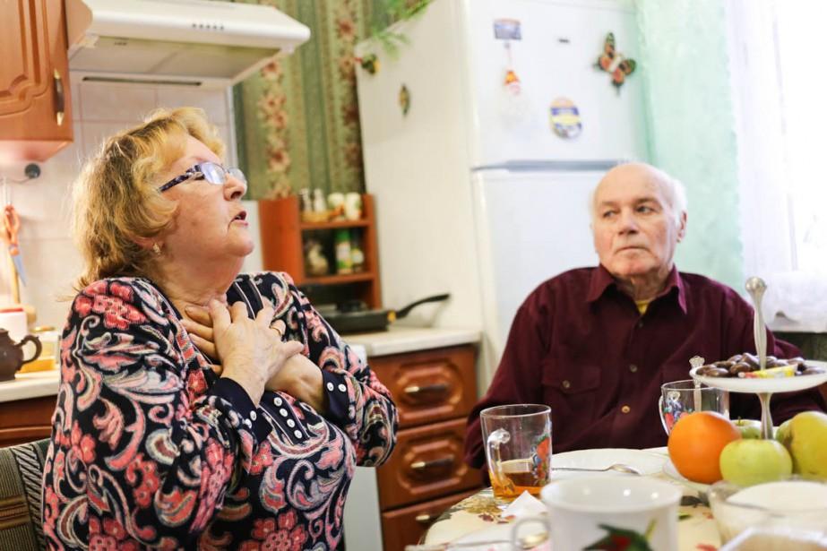 Galina Denisieva et son mari, Boris Alexandrovich, sont... (PHOTO ILIYA PILIPENKO, COLLABORATION SPÉCIALE)