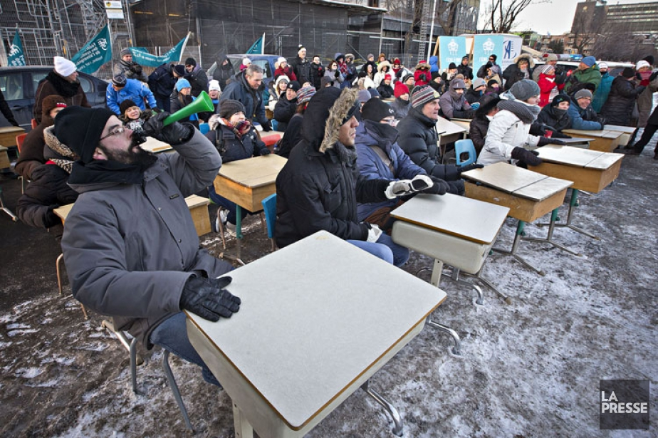 Le plan d'action de la mobilisation des 70000... (PHOTO PATRICK SANFAÇON, ARCHIVES LA PRESSE)