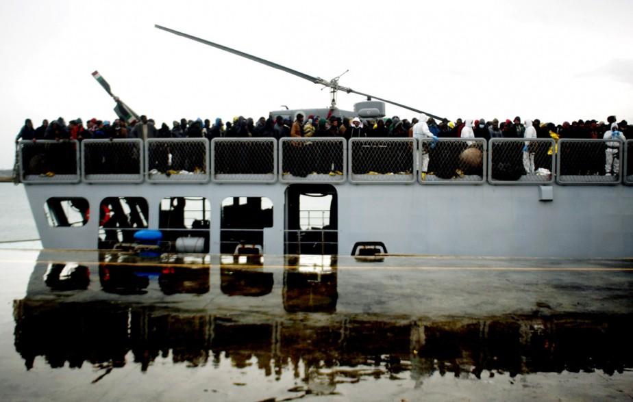 Au moins 3800 migrants africains partis de Libye ont été secourus en mer Méditerranée depuis le 13 février. (PHOTO MARCELLO PATERNOSTRO, AFP)