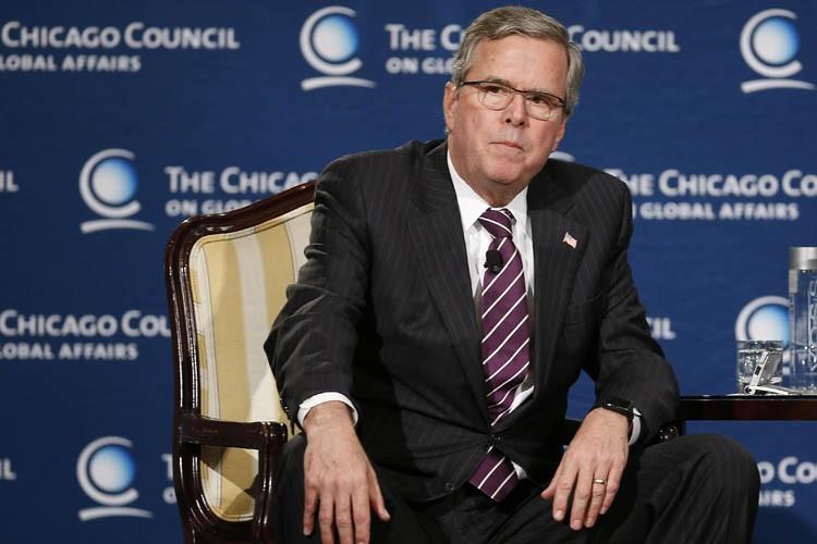 Jeb Bush a consacré l'essentiel de son intervention,... (Photo: Reuters)