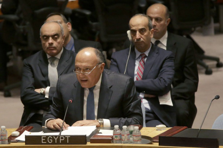 Selon le ministre égyptien des Affaires étrangères Sameh... (Photo Mary Altaffer, AP)