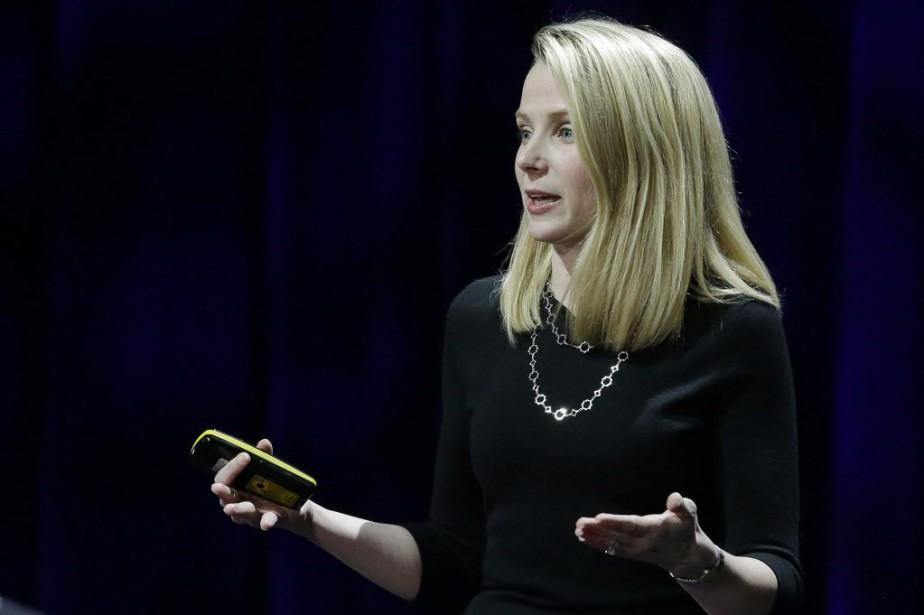 La directrice générale de Yahoo!, Marissa Mayer.... (Photo Eric Risberg, AP)