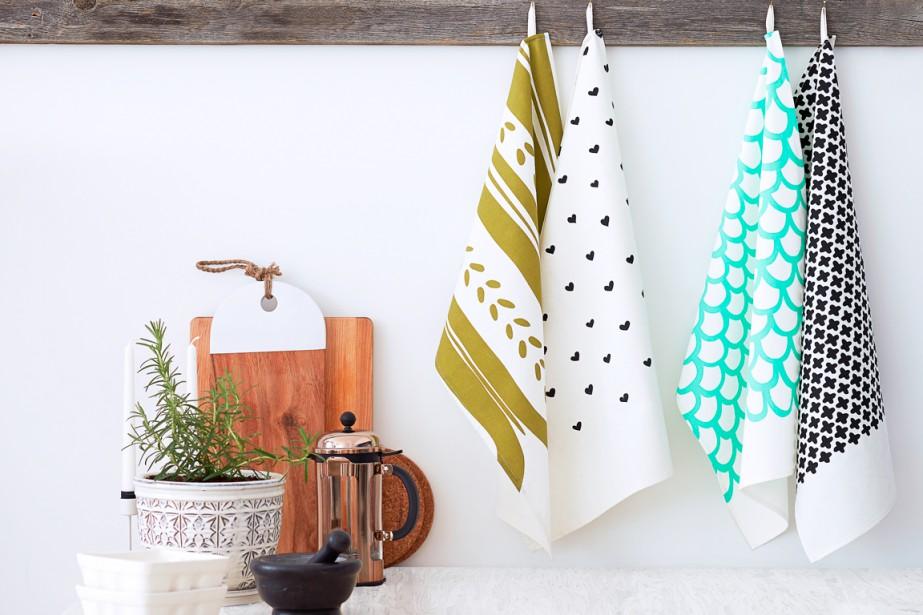 Le linge de cuisine conçu par la designer... (PHOTO FOURNIE PAR LINT AND HONEY)