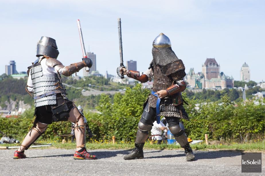 Méconnue au Québec, la pratique des combats médiévaux... (Photo d'archives Caroline Grégoire, Le Soleil)