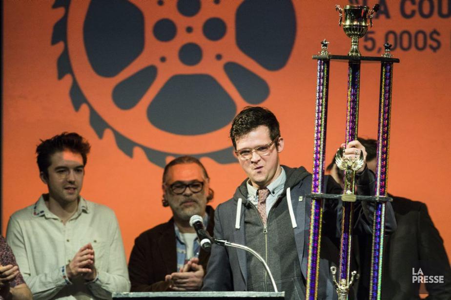 Le grand gagnant de la soirée, Matthew Rankin,... (PHOTO EDOUARD PLANTE-FRECHETTE, LA PRESSE)